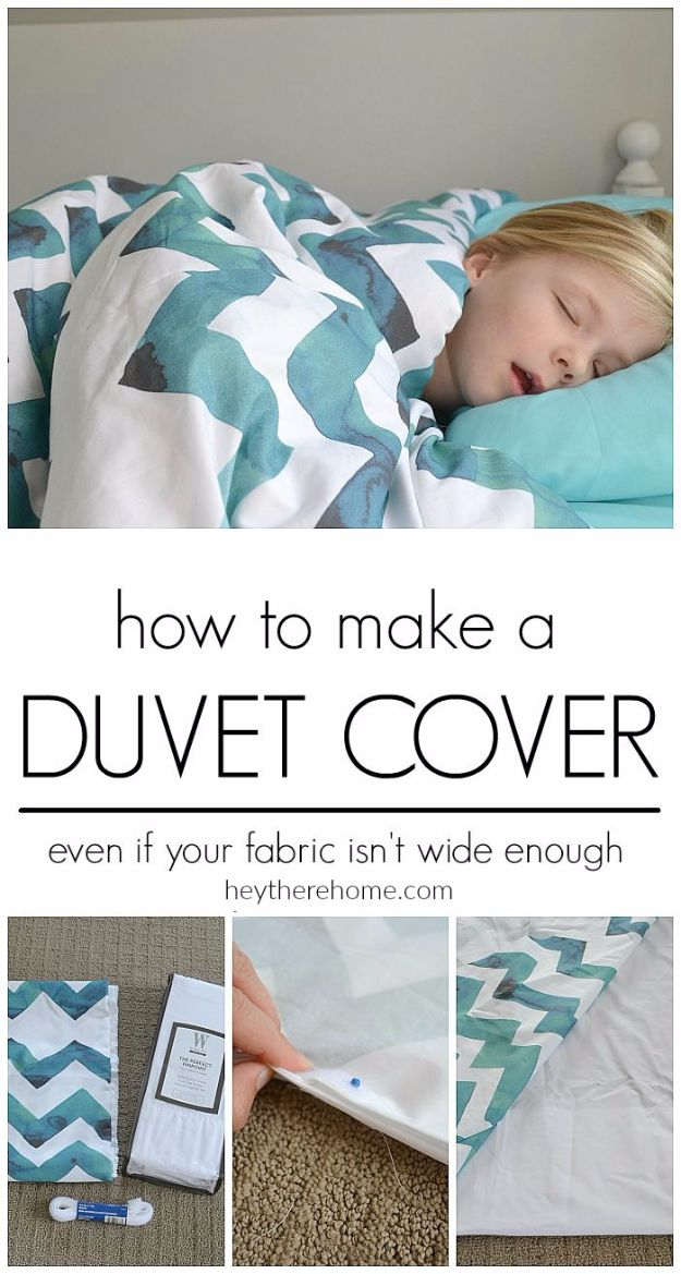 DIY Duvet Covers - DIY Cozy Duvet Cover - Easy Sewing Projects and No Sew Ideas for Duvets - Cheap Bedroom Decor Ideas on A Budget - How To Sew A Duvet Cover and Bedding Tutorial - Creative Covers for Bed - Quick Projects for Making Designer Duvets - Awesome Home Decor Ideas and Crafts #duvet #diybedroom #roomdecor #sewingideas