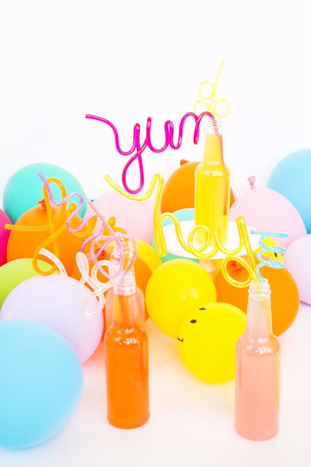DIY Pool Party Ideas - DIY Crazy Straws - Easy Decor Ideas for Pools - Best Pool Floats, Coolers, Party Foods and Drinks - Entertaining on A Budget - Step by Step Tutorials and Instructions - Summer Games and Fun Backyard Parties