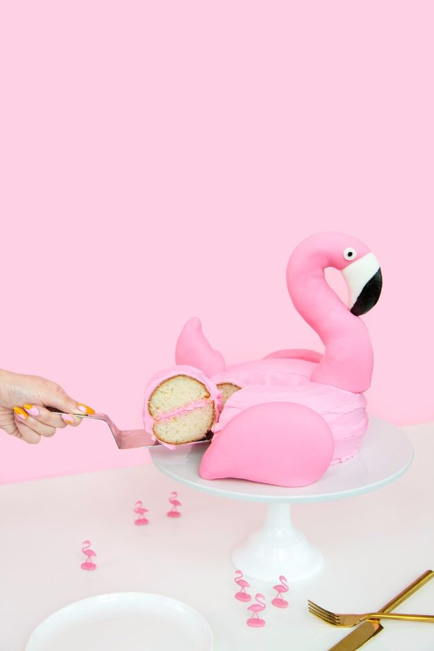 DIY Pool Party Ideas - DIY Flamingo Pool Float Cake - Easy Decor Ideas for Pools - Best Pool Floats, Coolers, Party Foods and Drinks - Entertaining on A Budget - Step by Step Tutorials and Instructions - Summer Games and Fun Backyard Parties