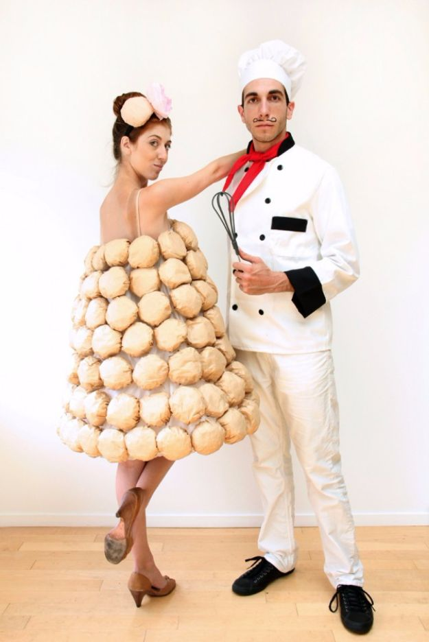 DIY Halloween Costumes for Couples - DIY French Chef - Funny, Creative and Scary Ideas for Parties, College Party - Unique and Cute Project Idea for Disney Characters, Superhero, Movie Themes, Bonnie and Clyde, Homemade Costume Projects for Boyfriends - Quick Last Minutes Halloween Costume Ideas from Pinterest #halloween #halloweencostumes