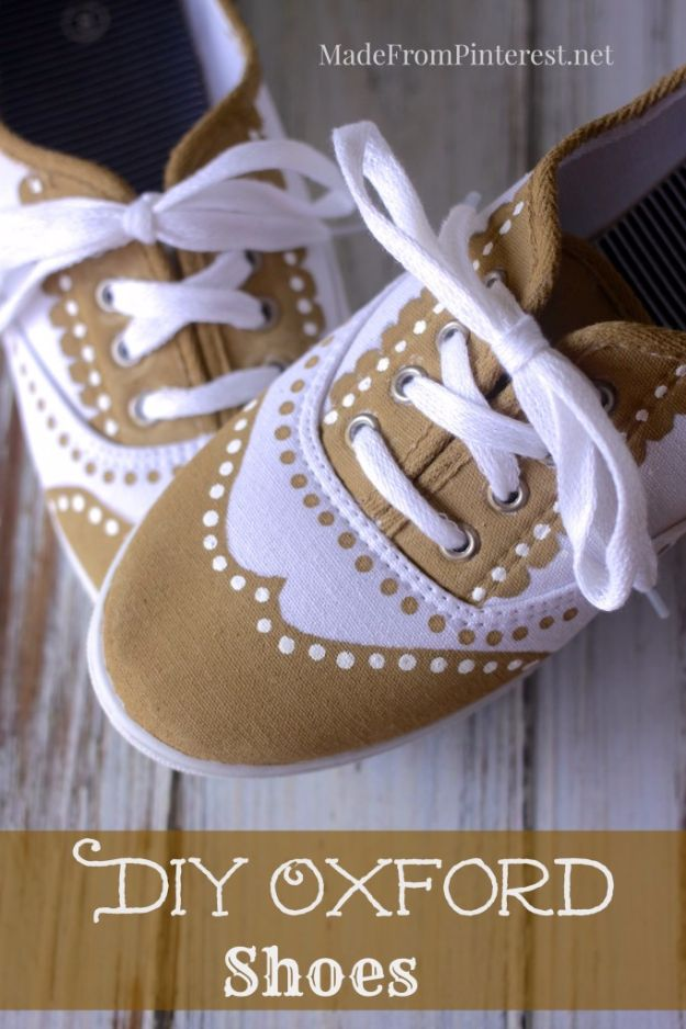 43d3401d06bc DIY Ideas for Tennis Shoes and Sneakers - DIY Oxford Shoes - Fun Projects  to Decorate