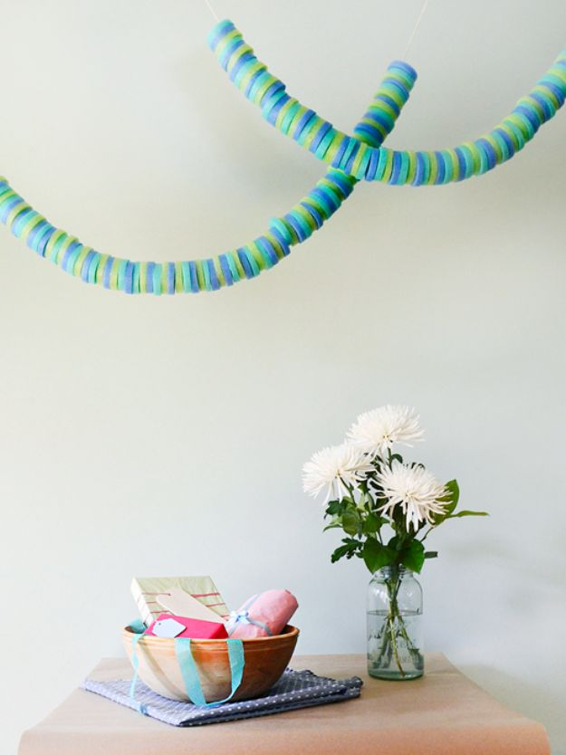 DIY Pool Party Ideas - DIY Pool Noodle Garland - Easy Decor Ideas for Pools - Best Pool Floats, Coolers, Party Foods and Drinks - Entertaining on A Budget - Step by Step Tutorials and Instructions - Summer Games and Fun Backyard Parties
