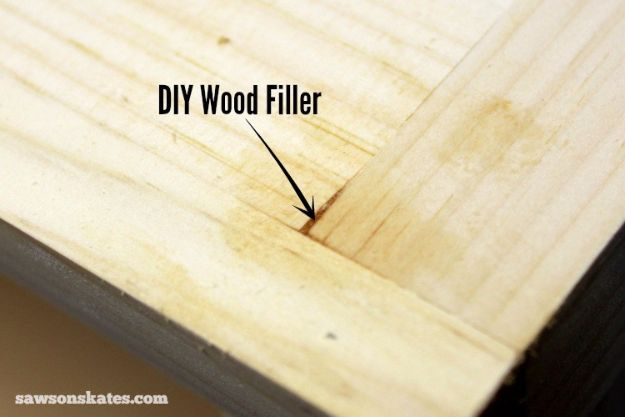 Cool Woodworking Tips - DIY Wood Filler- Easy Woodworking Ideas, Woodworking Tips and Tricks, Woodworking Tips For Beginners, Basic Guide For Woodworking - Refinishing Wood, Sanding and Staining, Cleaning Wood and Upcycling Pallets #woodworking