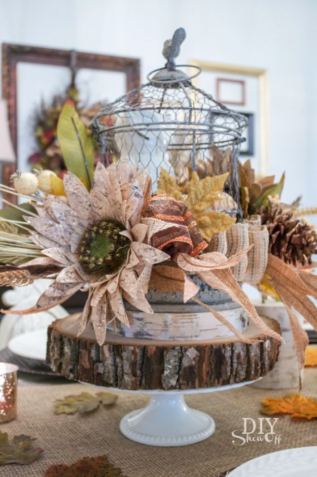Best Crafts for Fall - Decorative Fall Centerpiece - DIY Mason Jar Ideas, Dollar Store Crafts, Rustic Pumpkin Ideas, Wreaths, Candles and Wall Art, Centerpieces, Wedding Decorations, Homemade Gifts, Craft Projects with Leaves, Flowers and Burlap, Painted Art, Candles and Luminaries for Cool Home Decor - Quick and Easy Projects With Step by Step Tutorials and Instructions