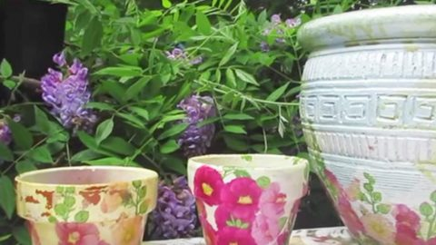 She Takes An Ugly Old Pot And What She Does To It Is So Beautiful. Watch! | DIY Joy Projects and Crafts Ideas