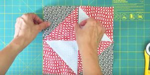 She Puts  4″x5″ Squares Together, Sews The Middle, Cuts Them And You'll Love This!