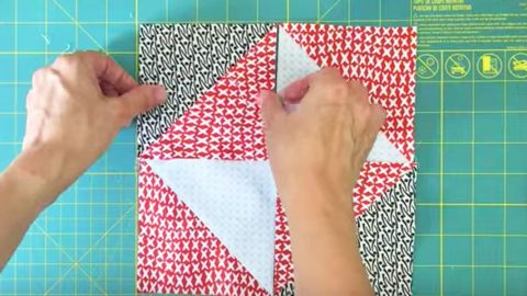 She Puts  4″x5″ Squares Together, Sews The Middle, Cuts Them And You'll Love This! | DIY Joy Projects and Crafts Ideas