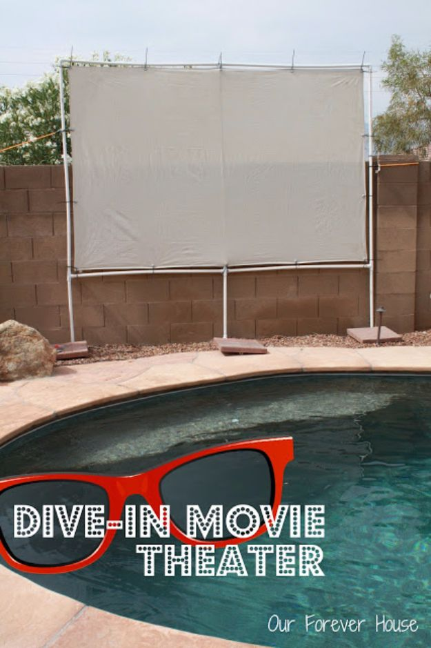 DIY Pool Party Ideas - Dive In Movie Theater - Easy Decor Ideas for Pools - Best Pool Floats, Coolers, Party Foods and Drinks - Entertaining on A Budget - Step by Step Tutorials and Instructions - Summer Games and Fun Backyard Parties