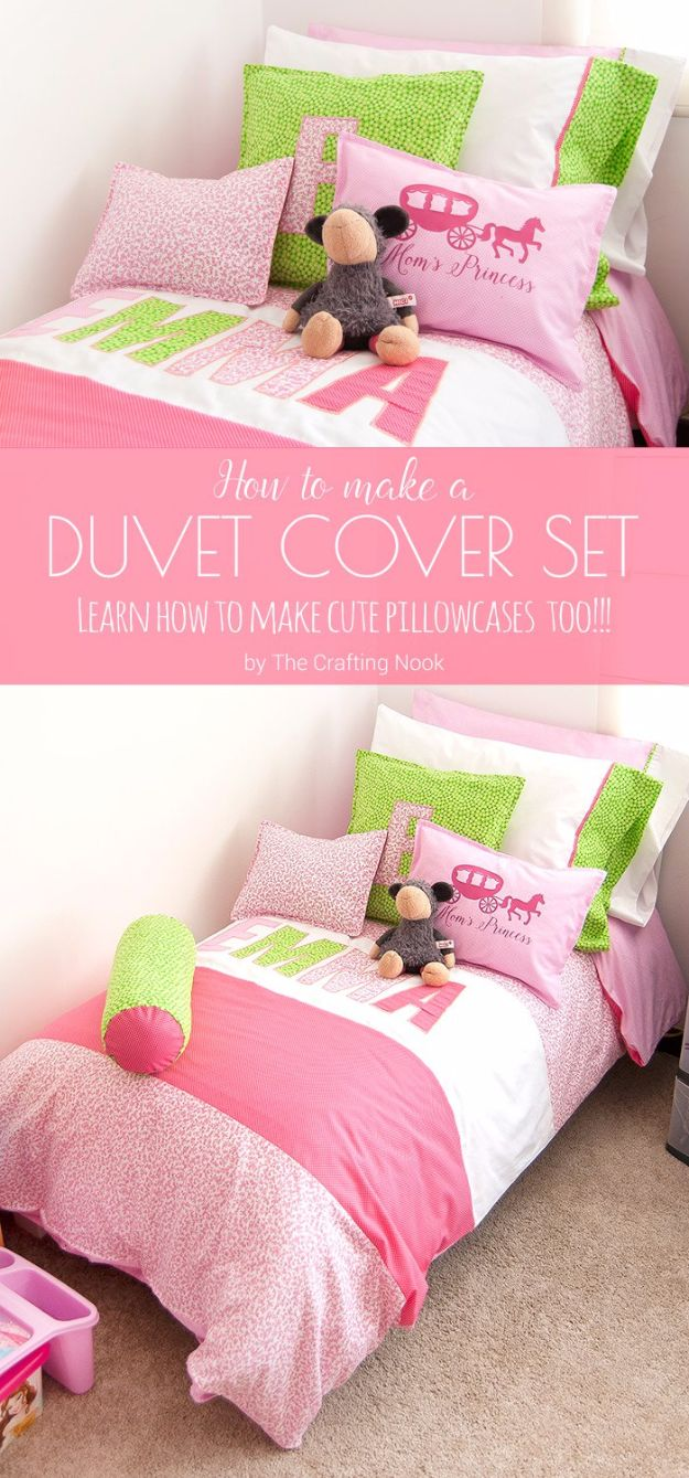 Duvet Cover DIY Duvet Covers - Duvet Cover Set - Easy Sewing Projects and No Sew Ideas for Duvets - Cheap Bedroom Decor Ideas on A Budget - How To Sew A Duvet Cover and Bedding Tutorial - Creative Covers for Bed - Quick Projects for Making Designer Duvets - Awesome Home Decor Ideas and Crafts #duvet #diybedroom #roomdecor #sewingideas