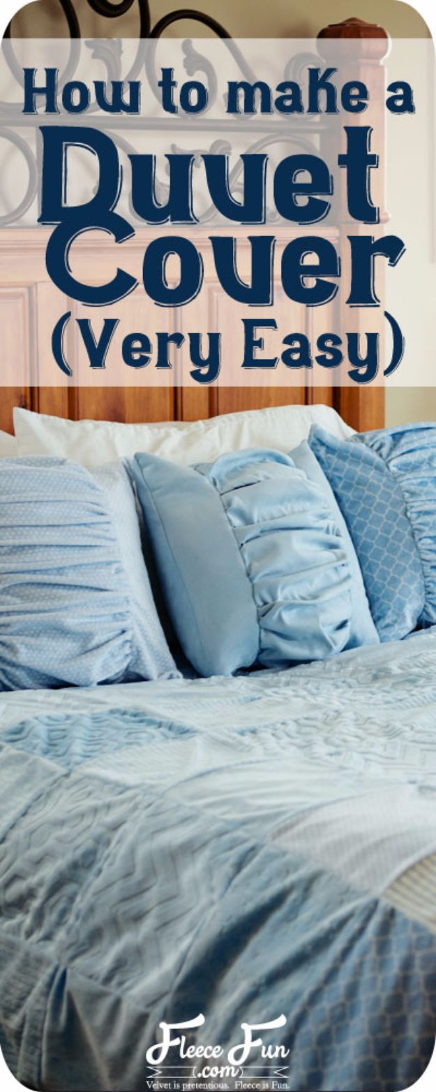 DIY Duvet Covers - Easy Duvet Cover - Easy Sewing Projects and No Sew Ideas for Duvets - Cheap Bedroom Decor Ideas on A Budget - How To Sew A Duvet Cover and Bedding Tutorial - Creative Covers for Bed - Quick Projects for Making Designer Duvets - Awesome Home Decor Ideas and Crafts #duvet #diybedroom #roomdecor #sewingideas