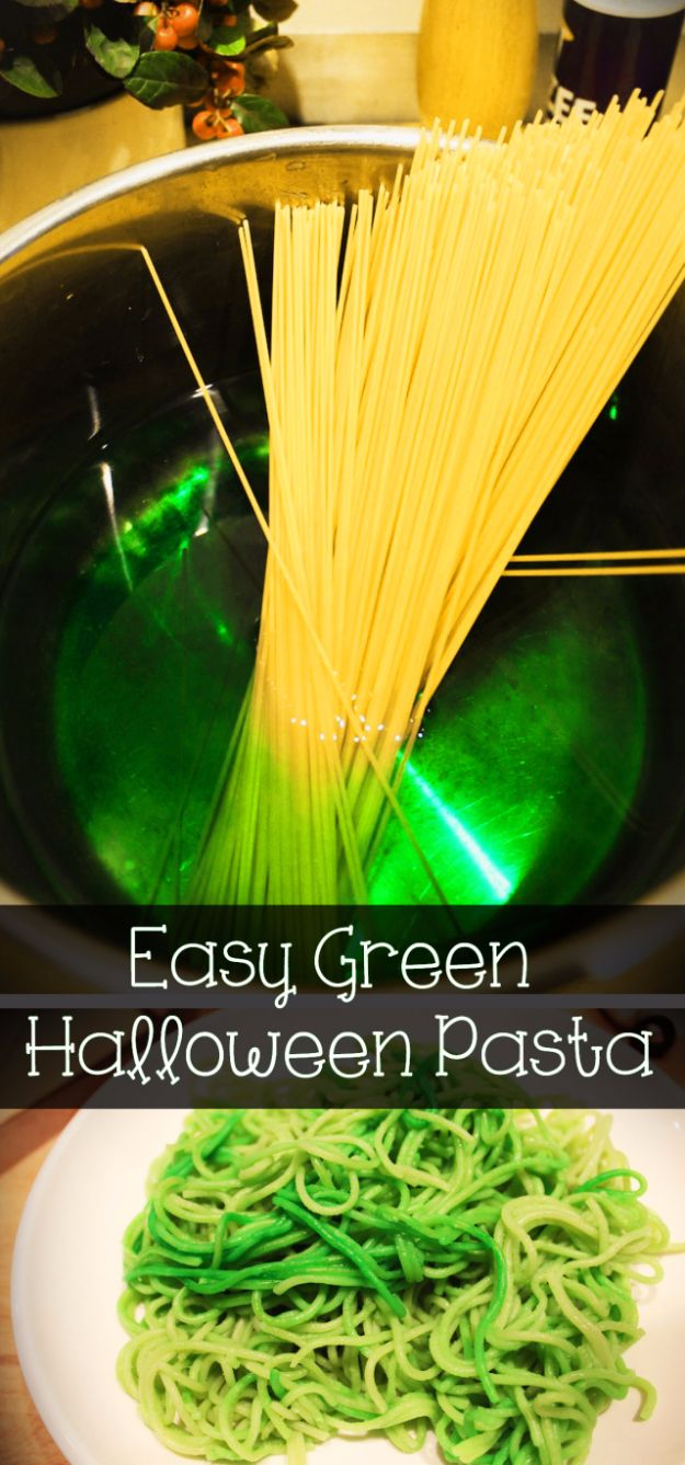 Best Halloween Party Snacks - Easy Green Halloween Pasta - Healthy Ideas for Kids for School, Teens and Adults - Easy and Quick Recipes and Idea for Dips, Chips, Spooky Cookies and Treats - Appetizers and Finger Foods Made With Vegetables, No Candy, Cheap Food, Scary DIY Party Foods With Step by Step Tutorials #halloween #halloweenrecipes #halloweenparty