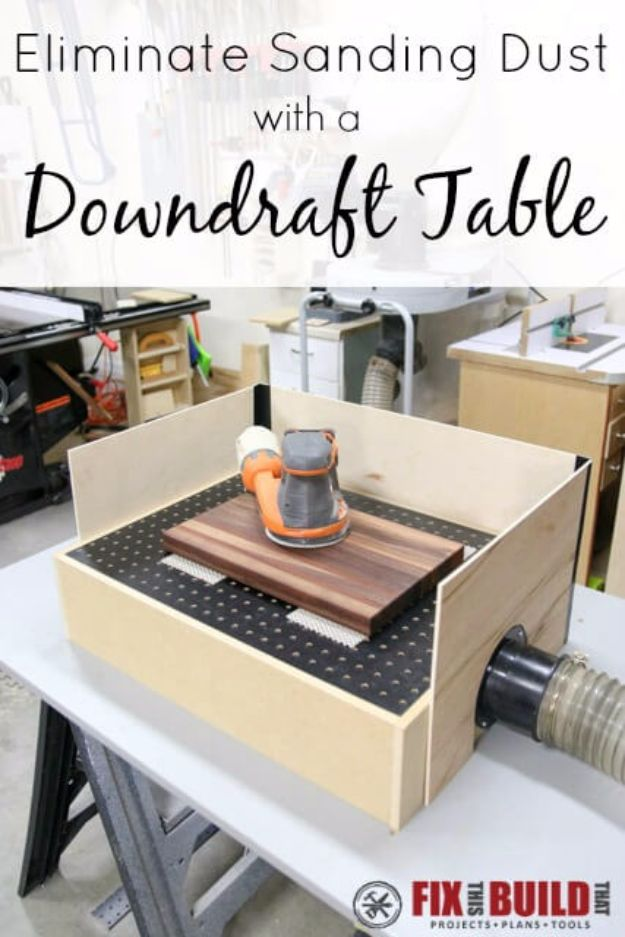 Cool Woodworking Tips - Eliminate Sanding Dust With Downdraft Table - Easy Woodworking Ideas, Woodworking Tips and Tricks, Woodworking Tips For Beginners, Basic Guide For Woodworking - Refinishing Wood, Sanding and Staining, Cleaning Wood and Upcycling Pallets #woodworking