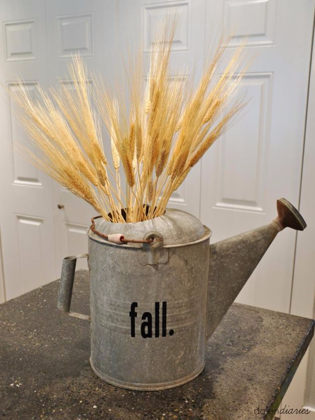 Best Crafts for Fall - Fall Watering Can - DIY Mason Jar Ideas, Dollar Store Crafts, Rustic Pumpkin Ideas, Wreaths, Candles and Wall Art, Centerpieces, Wedding Decorations, Homemade Gifts, Craft Projects with Leaves, Flowers and Burlap, Painted Art, Candles and Luminaries for Cool Home Decor - Quick and Easy Projects With Step by Step Tutorials and Instructions http://diyjoy.com/best-crafts-for-fall
