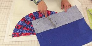 She Sews Fabric In The Shape Of A Fan And Puts A Twist On Quilting. Watch!
