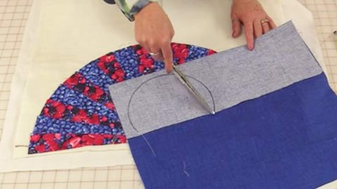 She Sews Fabric In The Shape Of A Fan And Puts A Twist On Quilting. Watch! | DIY Joy Projects and Crafts Ideas