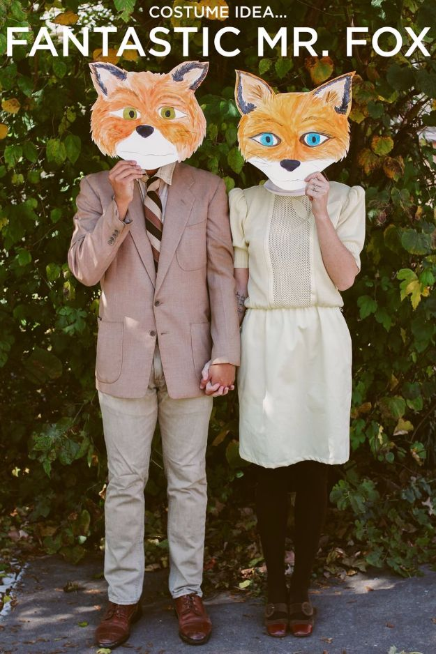 DIY Halloween Costumes for Couples - Fantastic Mr. Fox - Funny, Creative and Scary Ideas for Parties, College Party - Unique and Cute Project Idea for Disney Characters, Superhero, Movie Themes, Bonnie and Clyde, Homemade Costume Projects for Boyfriends - Quick Last Minutes Halloween Costume Ideas from Pinterest http://diyjoy.com/best-halloween-costumes-couples
