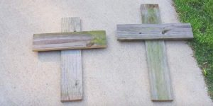 She Saws And Nails Old Fence Wood To Make Crosses And What She Does Next Is So Cool!