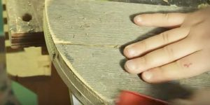 He Cuts And Sands Old Wood Into A Useful Item For The Garden That You Just May Need…