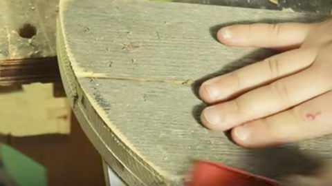 He Cuts And Sands Old Wood Into A Useful Item For The Garden That You Just May Need… | DIY Joy Projects and Crafts Ideas