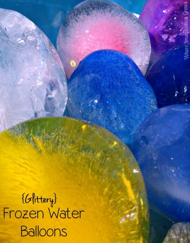 DIY Pool Party Ideas - Glittery Frozen Water Balloons - Easy Decor Ideas for Pools - Best Pool Floats, Coolers, Party Foods and Drinks - Entertaining on A Budget - Step by Step Tutorials and Instructions - Summer Games and Fun Backyard Parties
