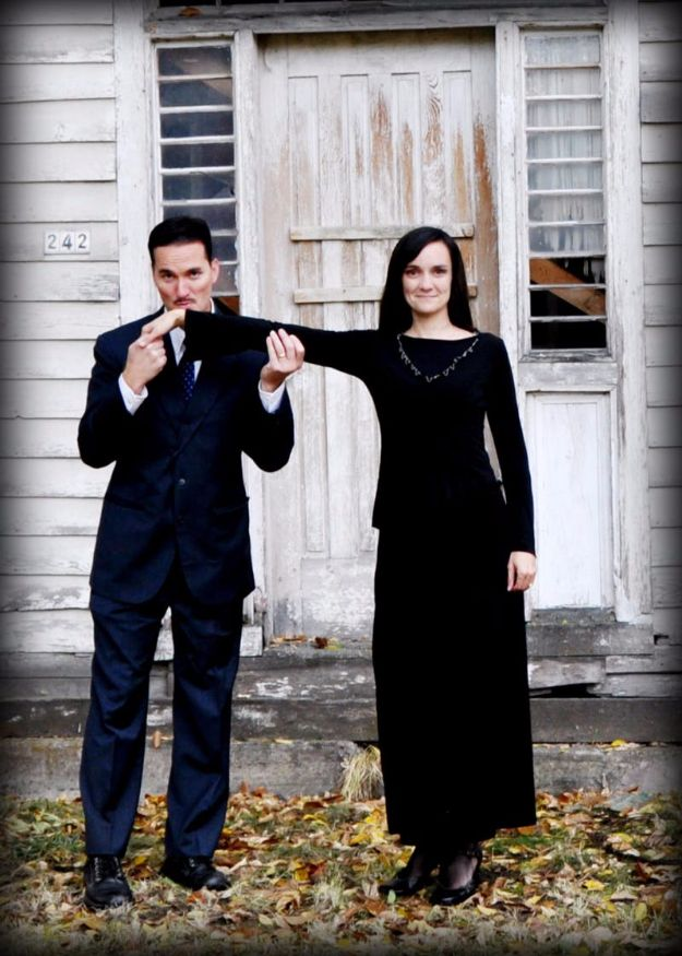 DIY Halloween Costumes for Couples - Gomez and Morticia Addams - Funny, Creative and Scary Ideas for Parties, College Party - Unique and Cute Project Idea for Disney Characters, Superhero, Movie Themes, Bonnie and Clyde, Homemade Costume Projects for Boyfriends - Quick Last Minutes Halloween Costume Ideas from Pinterest #halloween #halloweencostumes