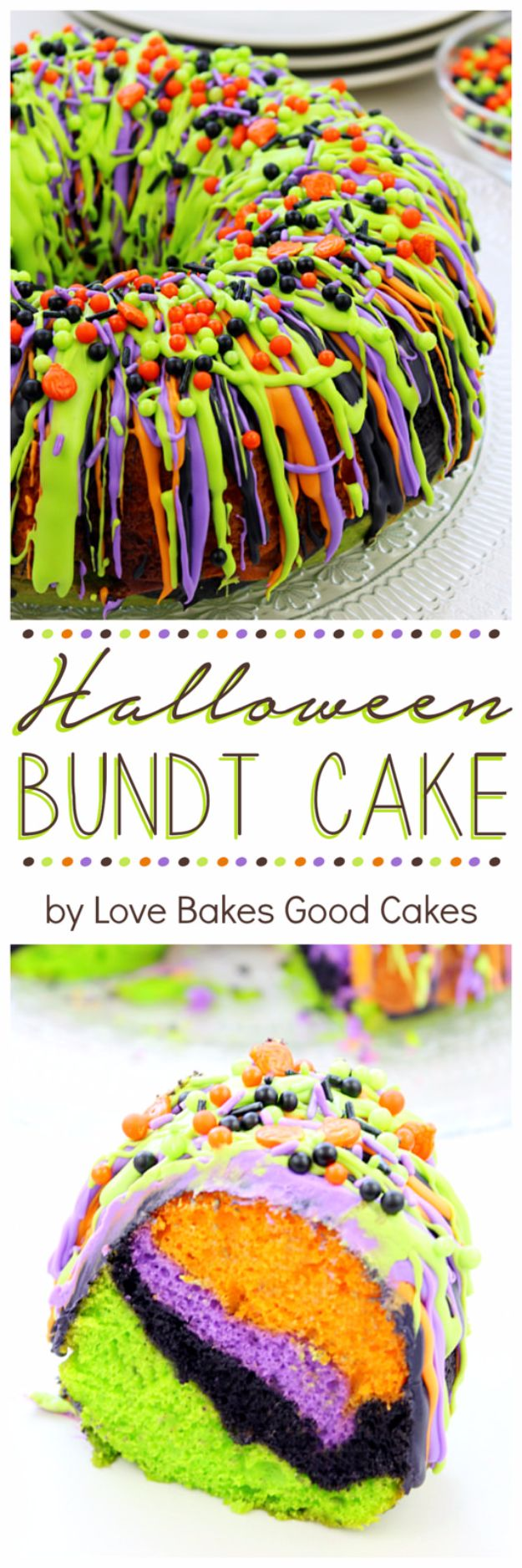 Best Halloween Party Snacks - Halloween Bundt Cake - Healthy Ideas for Kids for School, Teens and Adults - Easy and Quick Recipes and Idea for Dips, Chips, Spooky Cookies and Treats - Appetizers and Finger Foods Made With Vegetables, No Candy, Cheap Food, Scary DIY Party Foods With Step by Step Tutorials #halloween #halloweenrecipes #halloweenparty