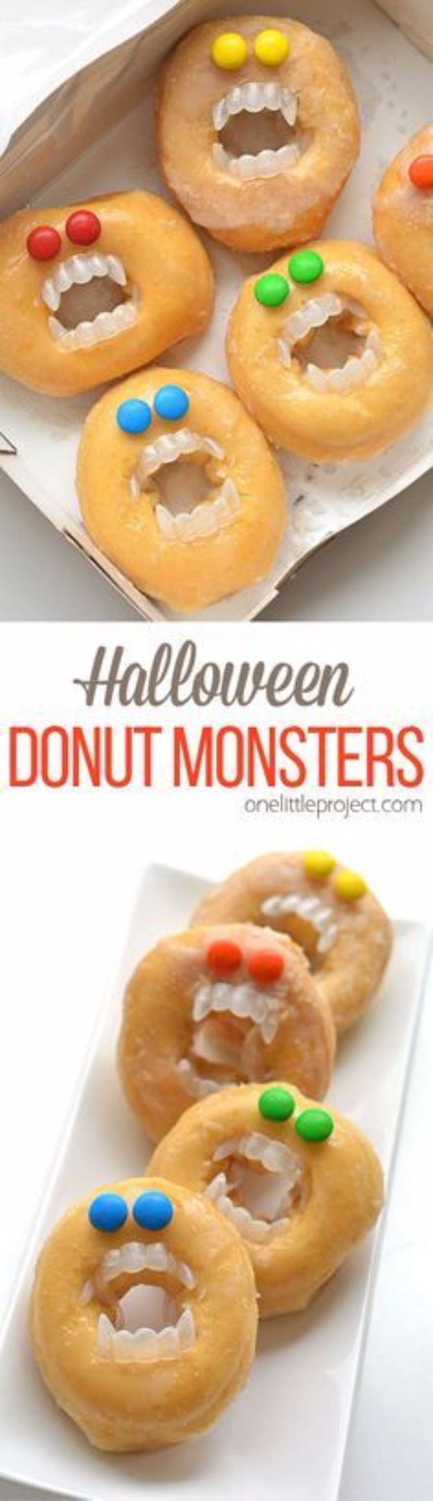 Best Halloween Party Snacks - Halloween Monster Donuts - Healthy Ideas for Kids for School, Teens and Adults - Easy and Quick Recipes and Idea for Dips, Chips, Spooky Cookies and Treats - Appetizers and Finger Foods Made With Vegetables, No Candy, Cheap Food, Scary DIY Party Foods With Step by Step Tutorials #halloween #halloweenrecipes #halloweenparty