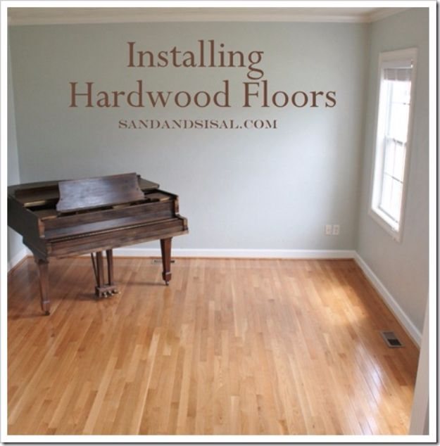 Cool Woodworking Tips - Installing Hardwood Floors - Easy Woodworking Ideas, Woodworking Tips and Tricks, Woodworking Tips For Beginners, Basic Guide For Woodworking - Refinishing Wood, Sanding and Staining, Cleaning Wood and Upcycling Pallets #woodworking