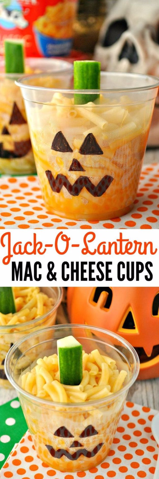 Cute Halloween Party Snacks - Jack-O-Lantern Mac and Cheese Cups - Healthy Ideas for Kids for School, Teens and Adults - Easy and Quick Recipes and Idea for Dips, Chips, Spooky Cookies and Treats - Appetizers and Finger Foods Made With Vegetables, No Candy, Cheap Food, Scary DIY Party Foods With Step by Step Tutorials #halloween #halloweenrecipes #halloweenparty