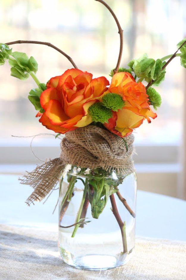 best mason jar crafts for fall mason jar centerpiece diy mason jar ideas for