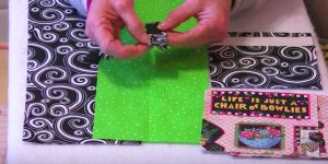 Cutting 2 Rectangles In One Fabric, 2 In Another, She Makes A Scrap Buster You'll Love!