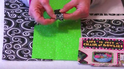 Cutting 2 Rectangles In One Fabric, 2 In Another, She Makes A Scrap Buster You'll Love! | DIY Joy Projects and Crafts Ideas