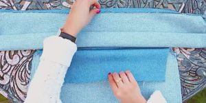 She Sews A Ruffle 30″x 12″ And Makes Something That's The Most Stylish Item Today!