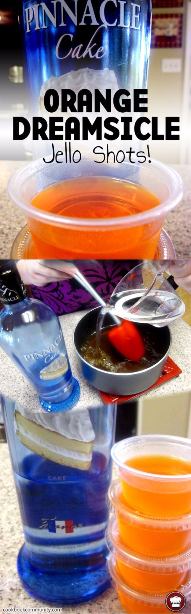 Best Jello Shot Recipes - Orange Dreamsicle Jello Shots - Easy Jello Shots Recipe Ideas with Vodka, Strawberry, Tequila, Rum, Jolly Rancher and Creative Alcohol - Unique and Fun Drinks for Parties like Whiskey Fireball, Fall Halloween Versions, Malibu, 4th of July, Birthday, Summer, Christmas and Birthdays http://diyjoy.com/best-jello-shot-recipes