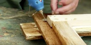 He Nails Pallets, Wraps And Hot Glues Twine. You'll Always Have A Place For This Item!