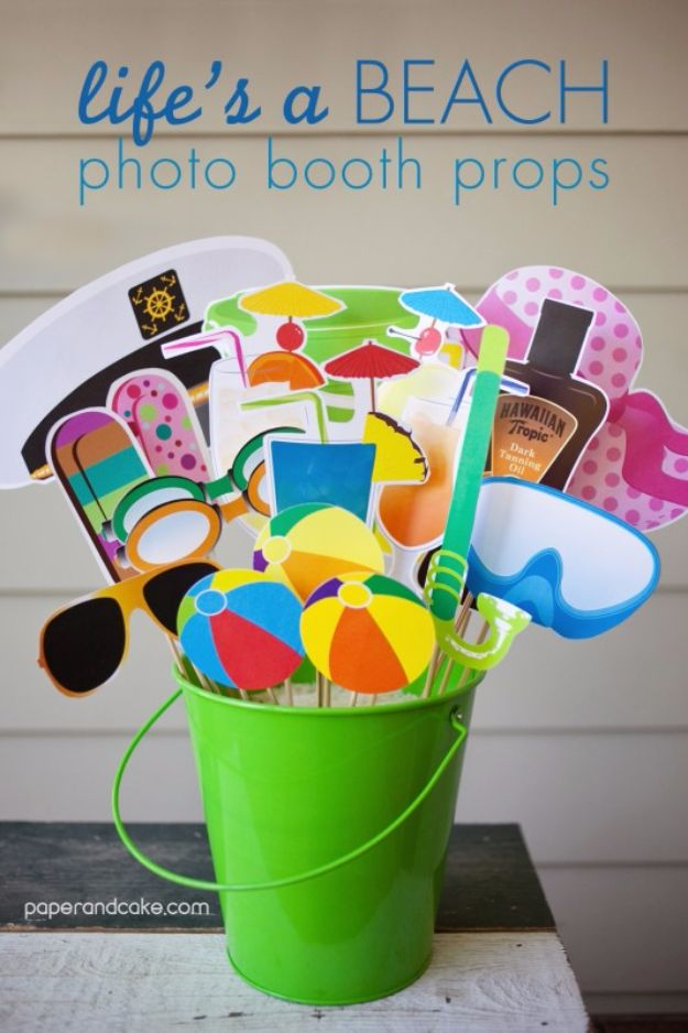 DIY Pool Party Ideas - Photo Booth Props - Easy Decor Ideas for Pools - Best Pool Floats, Coolers, Party Foods and Drinks - Entertaining on A Budget - Step by Step Tutorials and Instructions - Summer Games and Fun Backyard Parties