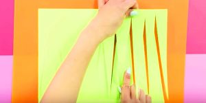 She Cuts Long Narrow Triangles In Green Card Stock And You'll Love What She Does Next
