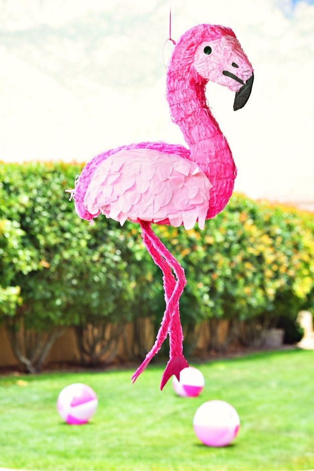 DIY Pool Party Ideas - Pink Flamingo Pool Party - Easy Decor Ideas for Pools - Best Pool Floats, Coolers, Party Foods and Drinks - Entertaining on A Budget - Step by Step Tutorials and Instructions - Summer Games and Fun Backyard Parties http://diyjoy.com/diy-pool-party-ideas