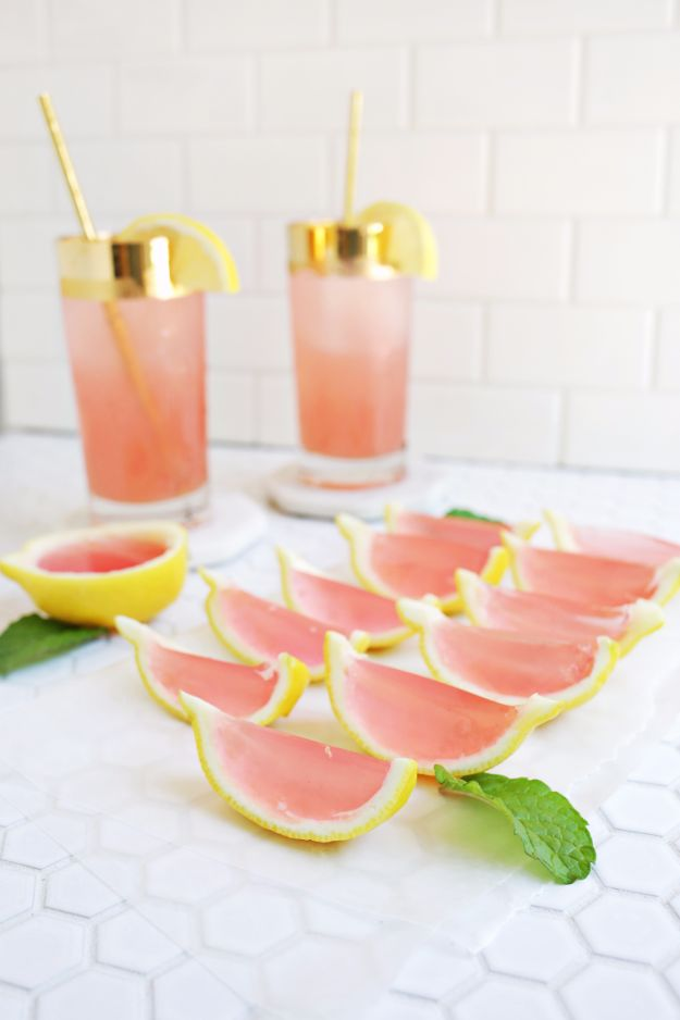 Jello Shot Recipes - Pink Lemonade Jello Shots - Easy Jello Shots Recipe Ideas with Vodka, Strawberry, Tequila, Rum, Jolly Rancher and Creative Alcohol - Unique and Fun Drinks for Parties like Whiskey Fireball, Fall Halloween Versions, Malibu, 4th of July, Birthday, Summer, Christmas and Birthdays #jelloshots #partydrinks #parties