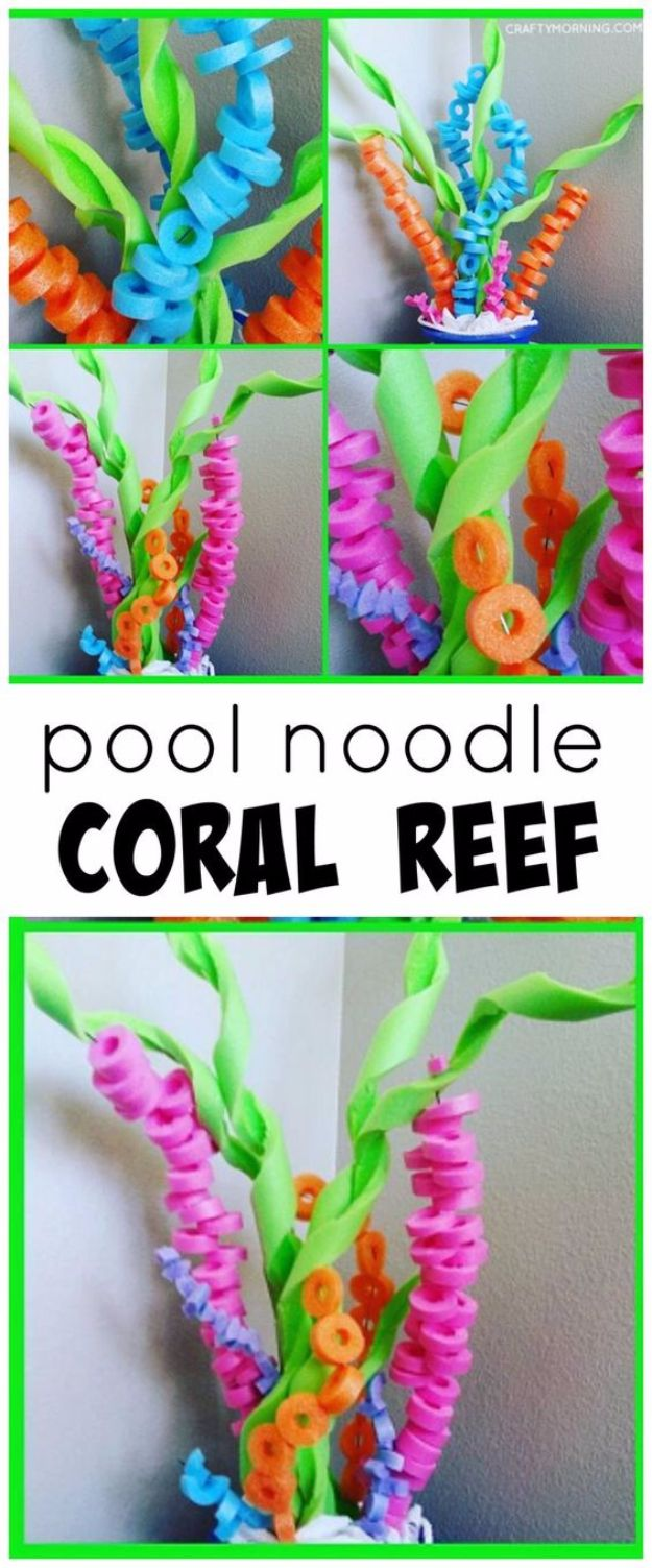 DIY Pool Party Ideas - Pool Noodle Coral Reef Craft - Easy Decor Ideas for Pools - Best Pool Floats, Coolers, Party Foods and Drinks - Entertaining on A Budget - Step by Step Tutorials and Instructions - Summer Games and Fun Backyard Parties