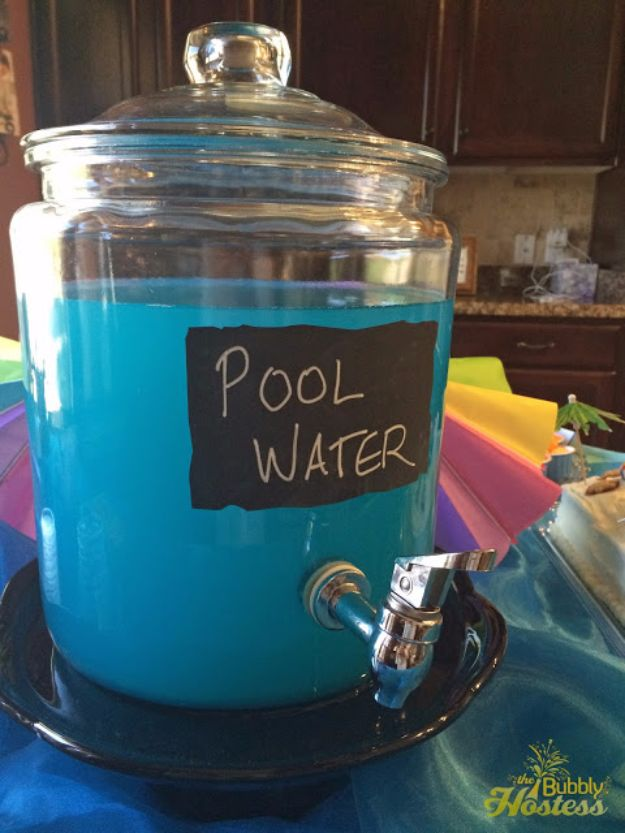 DIY Pool Party Ideas - Pool Water Drink - Easy Decor Ideas for Pools - Best Pool Floats, Coolers, Party Foods and Drinks - Entertaining on A Budget - Step by Step Tutorials and Instructions - Summer Games and Fun Backyard Parties