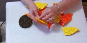 She Cuts And Sews Shapes That Look Like Petals And Makes A Magical Item You Want!