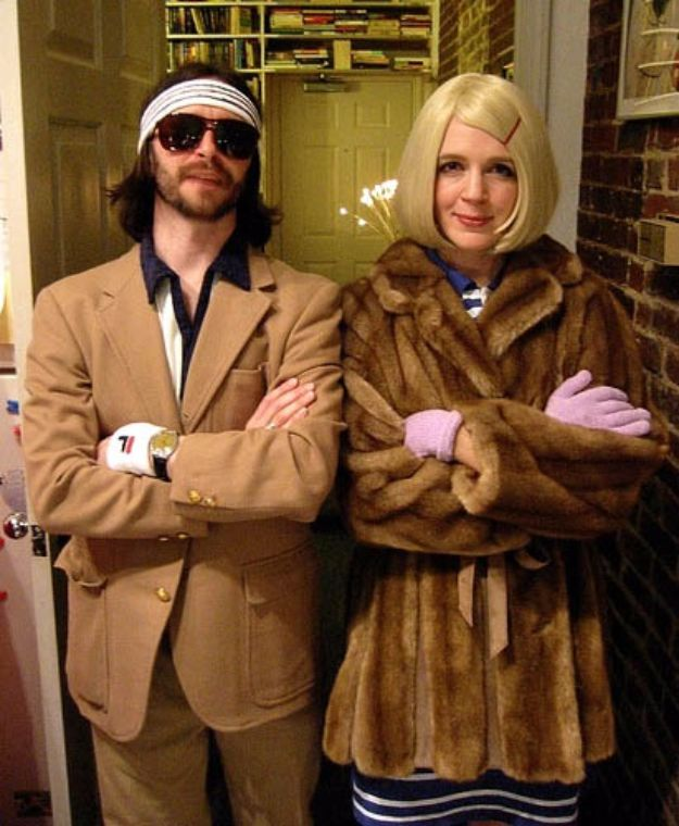 DIY Halloween Costumes for Couples - Richie And Margot Tenenbaum Costumes - Funny, Creative and Scary Ideas for Parties, College Party - Unique and Cute Project Idea for Disney Characters, Superhero, Movie Themes, Bonnie and Clyde, Homemade Costume Projects for Boyfriends - Quick Last Minutes Halloween Costume Ideas from Pinterest http://diyjoy.com/best-halloween-costumes-couples