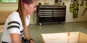 After Attaching 4 Pieces Of Wood She Makes A Super Functional Piece Of Furniture. Watch!