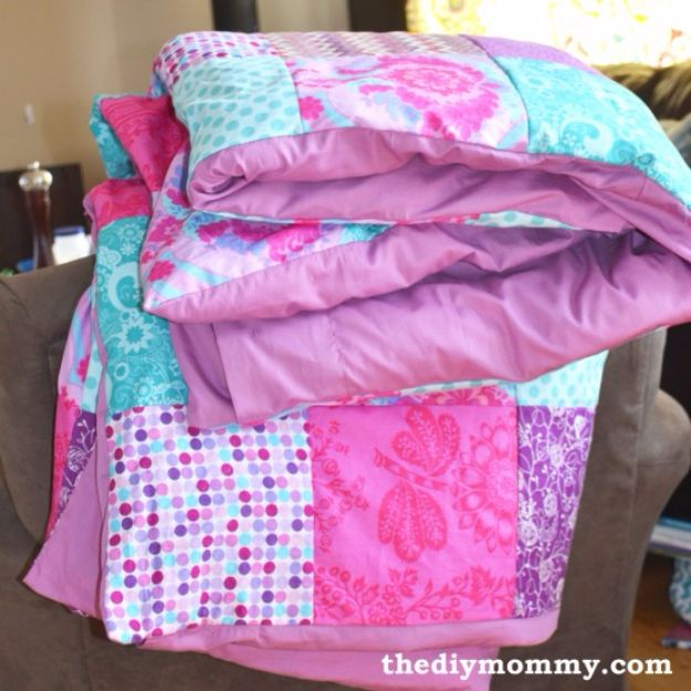 DIY Duvet Covers - Sew a Patchwork Duvet Cover - Easy Sewing Projects and No Sew Ideas for Duvets - Cheap Bedroom Decor Ideas on A Budget - How To Sew A Duvet Cover and Bedding Tutorial - Creative Covers for Bed - Quick Projects for Making Designer Duvets - Awesome Home Decor Ideas and Crafts #duvet #diybedroom #roomdecor #sewingideas