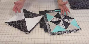 She Places 18 Great Blocks Together In Rows For A Quilt You Will Have To Make!