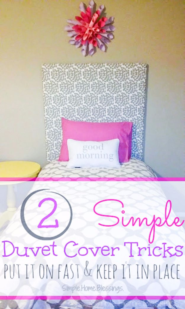 DIY Duvet Covers - Simple Duvet Cover Tricks - Easy Sewing Projects and No Sew Ideas for Duvets - Cheap Bedroom Decor Ideas on A Budget - How To Sew A Duvet Cover and Bedding Tutorial - Creative Covers for Bed - Quick Projects for Making Designer Duvets - Awesome Home Decor Ideas and Crafts #duvet #diybedroom #roomdecor #sewingideas