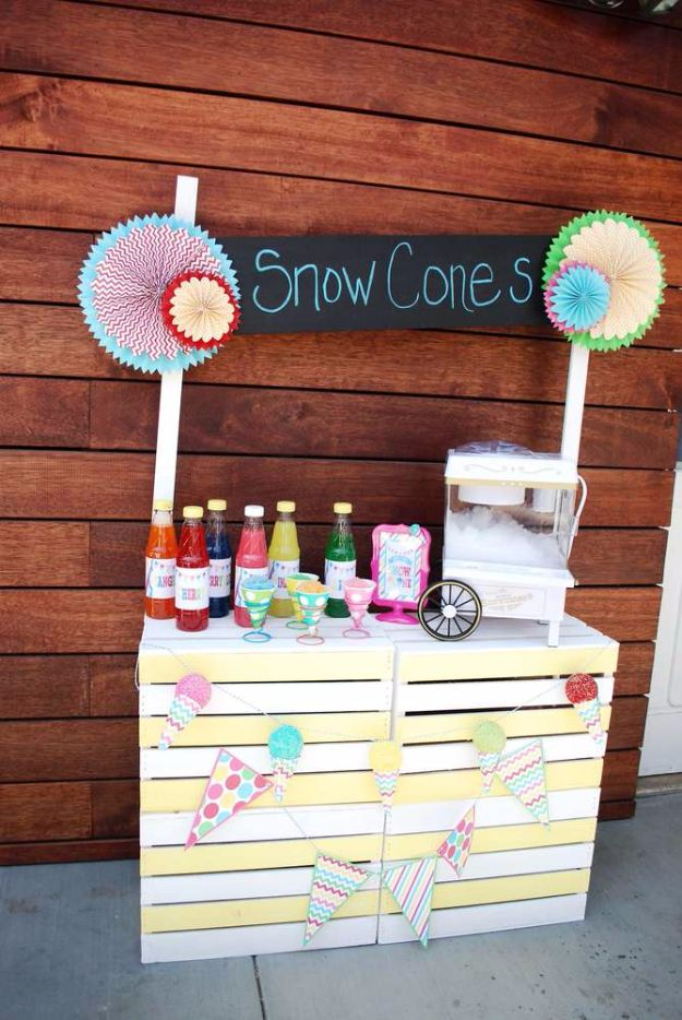 DIY Pool Party Ideas - Snow Cone Pool Party - Easy Decor Ideas for Pools - Best Pool Floats, Coolers, Party Foods and Drinks - Entertaining on A Budget - Step by Step Tutorials and Instructions - Summer Games and Fun Backyard Parties