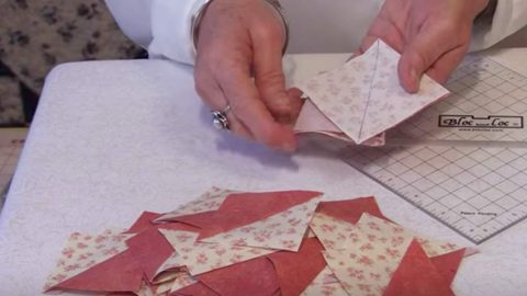 She Sews A Bunch Of Triangles Together And What She Does Next Is So Charming. Watch! | DIY Joy Projects and Crafts Ideas