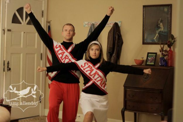 "DIY Halloween Costumes for Couples - Spartan Cheerleaders from ""SNL"" - Funny, Creative and Scary Ideas for Parties, College Party - Unique and Cute Project Idea for Disney Characters, Superhero, Movie Themes, Bonnie and Clyde, Homemade Costume Projects for Boyfriends - Quick Last Minutes Halloween Costume Ideas from Pinterest http://diyjoy.com/best-halloween-costumes-couples"